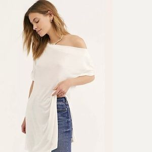 Free People Cowl Neck Take It Easy Tunic Top XS